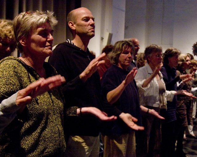 zangworkshop tijdens vergaderdag